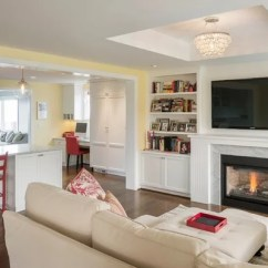 Decorating Living Room Walls With Family Photos Pictures Of Modern Traditional Rooms Tv Over Fireplace | Houzz