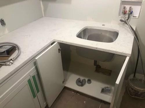 laundry sink without backsplash