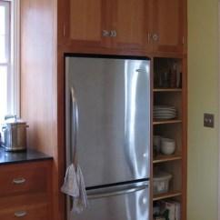 36 Inch Kitchen Cabinets Coastal Rugs Built In Fridge | Houzz