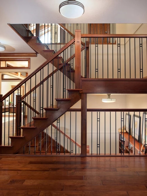 Stair Railing Home Design Ideas Pictures Remodel And Decor   Craftsman Style Stair Railing