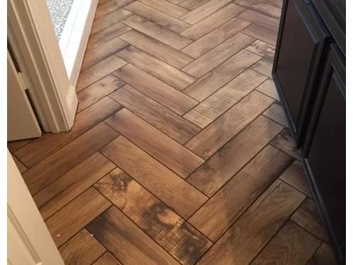 wood tile grout too dark