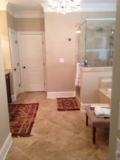 master bath rug size and placement
