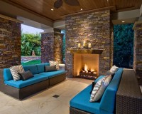 Outdoor Stone Fireplace Ideas, Pictures, Remodel and Decor