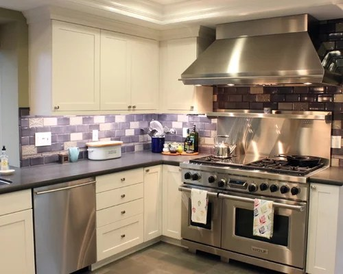 Purple Backsplash  Houzz
