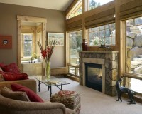 Window Above Fireplace Home Design Ideas, Pictures ...