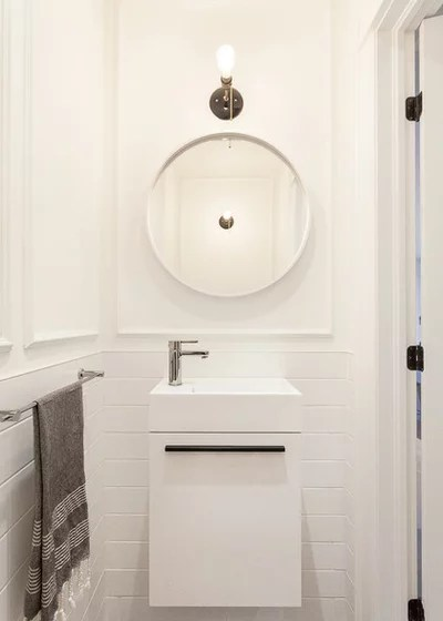 Contemporary Powder Room by Veronica Martin Design Studio