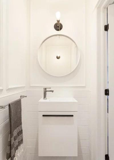 Contemporary Powder Room by Veronica Martin Design Studio