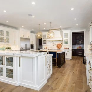 gold kitchen ikea appliances black and ideas photos houzz large transitional open concept example of a u shaped light