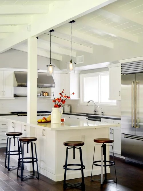 White Ceiling Beams Home Design Ideas Pictures Remodel and Decor