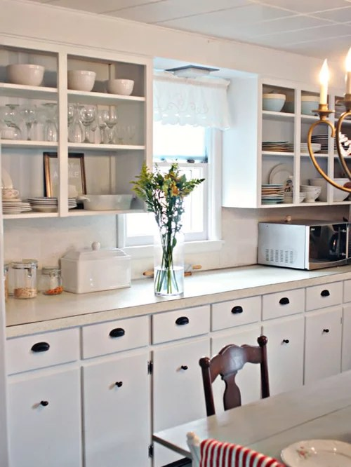 cottage style kitchen cabinets glass door handles small home design ideas, pictures, remodel ...
