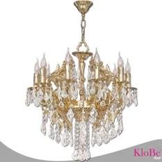 Klobe Paris 15 Light Brass Chandelier Bright Nickel Chandeliers