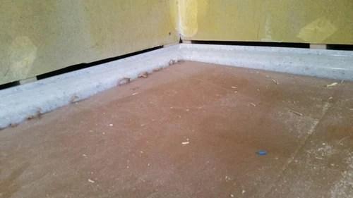 1 2 gap between flange cement board