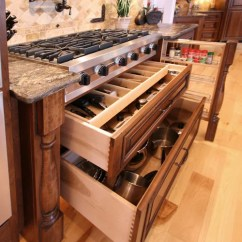 Skinny Kitchen Cabinet Console Drawers Under Cooktop | Houzz