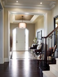 Tray Ceiling In Foyer