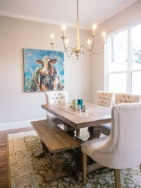 709 Farmhouse Dining Room with Gray Walls Design Ideas ...