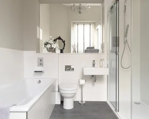 White And Grey Bathroom Home Design Ideas Pictures