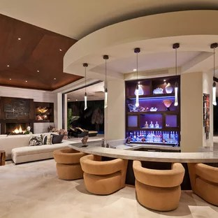 bar in living room modern with oriental rug counter top ideas photos houzz example of a trendy design san diego