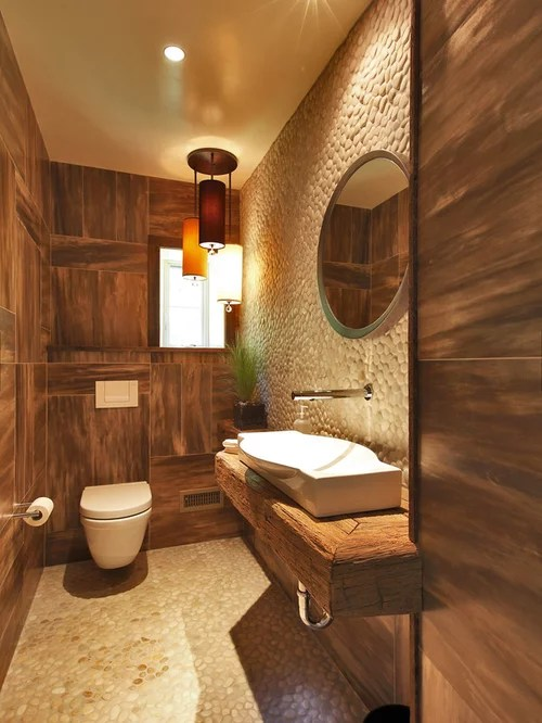 Amnagement toilettes marron