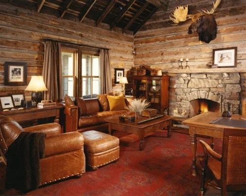 color ideas living room brown carpet photos of small decorating log cabin family rooms home design ideas, pictures ...
