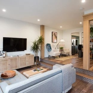 small living room design ideas images of rooms with wood floors 75 most popular for 2019 stylish transitional open concept medium tone floor and brown photo in austin