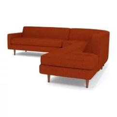 Apt Size Sectional Sofas Memory Foam Mattress For Sofa Bed Apartment Houzz Apt2b Monroe 3 Piece Pumpkin Chaise On Left