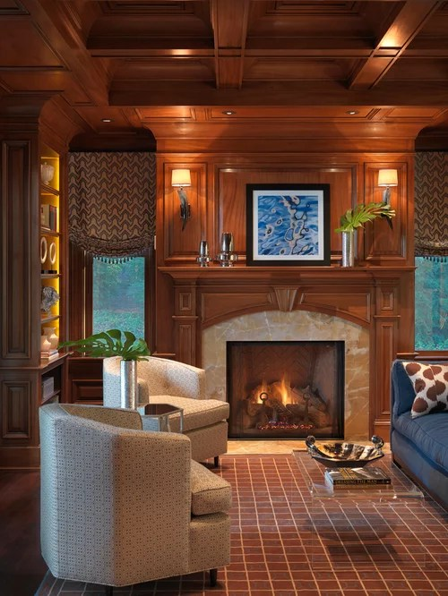 Wood Fireplace Surround  Houzz