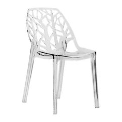 Houzz Dining Chairs Contemporary Chair On Wheels 50 Most Popular Room For 2019 Leisuremod Cornelia Hollow Back Lucite Side Clear
