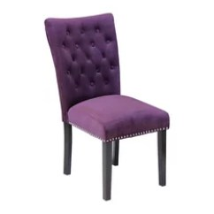 Purple Dining Chairs Canada Metal Papasan Chair 50 Most Popular Room For 2019 Houzz Monsoon Pacific Markelo Plum Wine Velvet Set Of 2