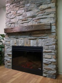 Reface Fireplace With Stone
