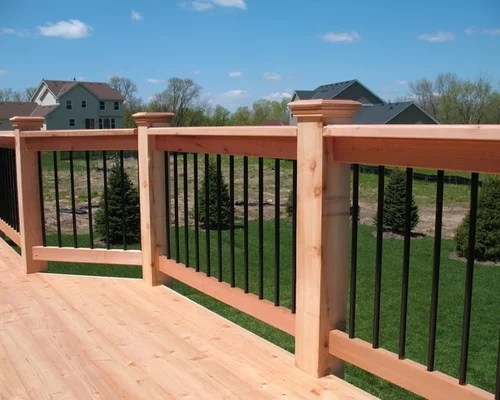 Cedar Deck Railing  Houzz