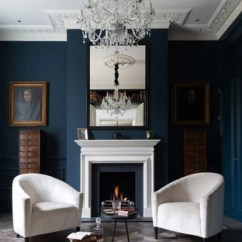 Interior Design Styles Living Room Modern Chairs For The 75 Most Popular Victorian Ideas 2019 Ornate Formal And Enclosed Photo In London With Blue Walls A Standard Fireplace