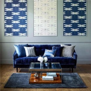 blue modern living room how to decorate a small for christmas 75 most popular design ideas 2019 stylish inspiration mid sized enclosed dark wood floor remodel in valencia