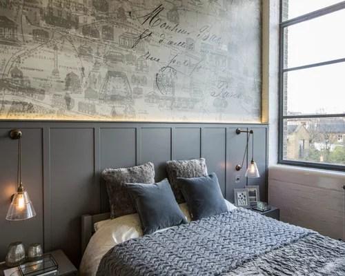 industrial grey bedroom Industrial Grey Bedroom Design Ideas, Renovations & Photos