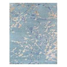 Pasargad Modern Collection Hand-Knotted Silk & Wool Area Rug 8'2x10'