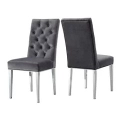 Houzz Dining Chairs Contemporary Hanging Birdcage Chair 50 Most Popular Parsons For 2019 Meridian Furniture Juno Velvet Set Of 2 Gray