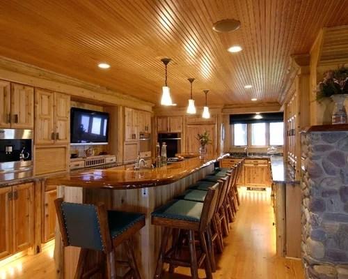 budget kitchen remodel utencils pine board ceiling | houzz