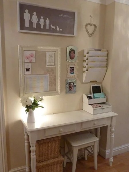 shabby chic home office ideas Shabby-Chic Style Brown Home Office Design Ideas
