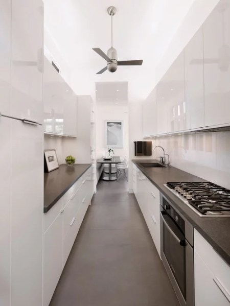 white galley kitchen designs White Galley Kitchen | Houzz