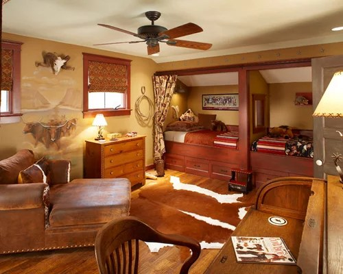 Western Theme Bedroom Home Design Ideas, Pictures, Remodel
