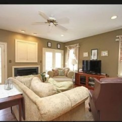 Arranging Furniture In Small Living Room With French Doors Best Ergonomic Chairs Difficult Layout Flank Fireplace