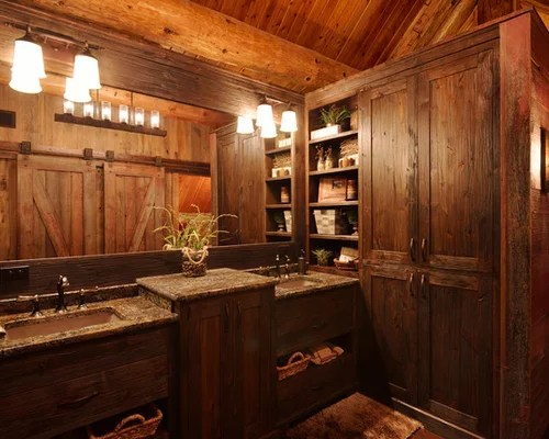 Small Log Cabin Bathrooms