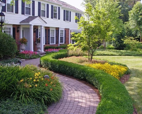 front walkway landscaping home