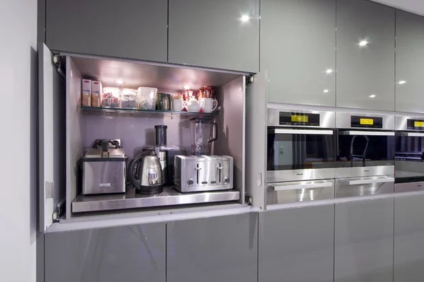 best small kitchen appliances red and white canisters the places to stash modern by darren james interiors