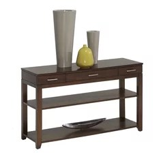 Daytona Contemporary Regal Walnut Wood Sofa/Console Table