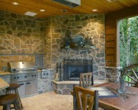 Corner Outdoor Fireplace Home Design Ideas, Pictures ...