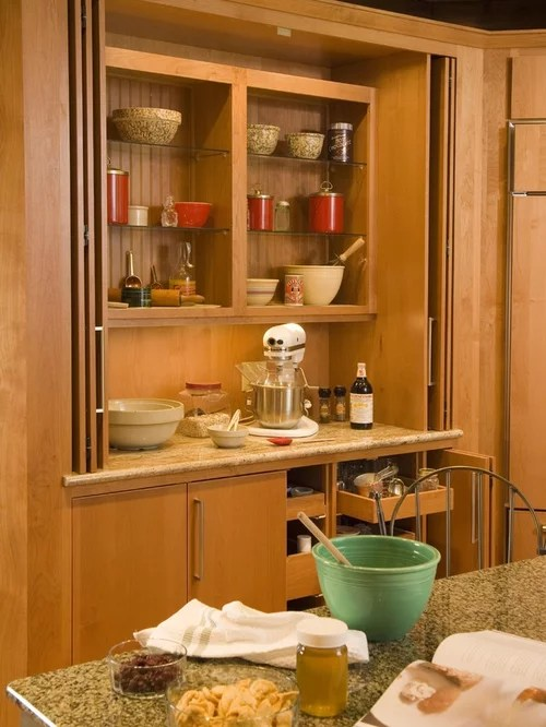 country kitchen ideas on a budget rustic hutch baking center | houzz
