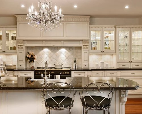 two tone kitchen island ceramic floor tiles best french provincial design ideas & remodel pictures | houzz