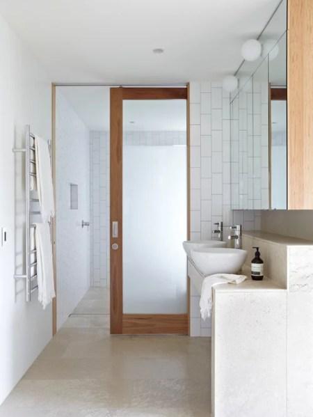 sliding pocket door bathroom Frosted Glass Pocket Door Home Design Ideas, Pictures, Remodel and Decor