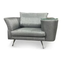 Unique Accent Chairs Foldable Papasan Chair Armchairs Houzz Zuri Furniture Cafe With Side Table Gray Right And