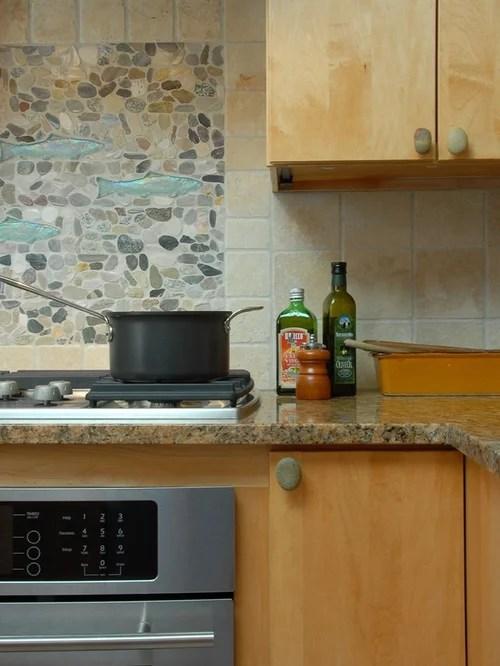 undermount porcelain kitchen sink wholesale cabinets river stone backsplash ideas, pictures, remodel and decor